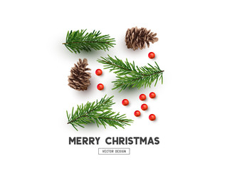 Merry Christmas Natural Design Layout