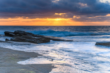 A Moody Sunrise Seascape