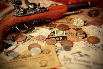 Old Money and Coins