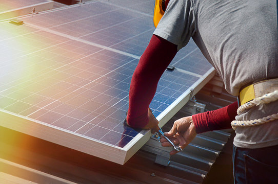 Installing a Solar Cell on a Roof