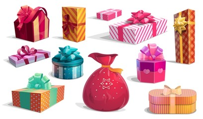 Holidays gift boxes and presents