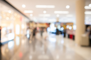 Abstract blurred image of shopping mall