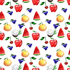 Fruits seamless pattern.