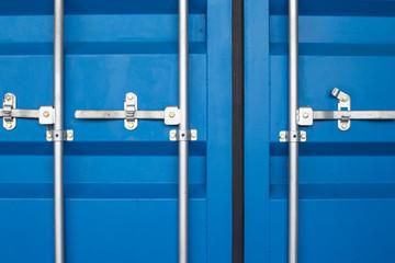 blue door of cargo container box background
