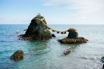 Meoto Iwa sacred rocks in japan