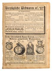 Antique alarm clock Vintage advertising shopping catalog