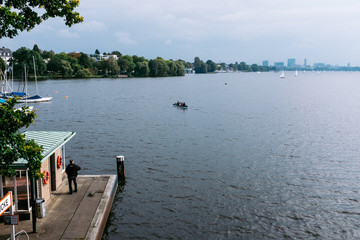 pier on the Alster in Hamburg