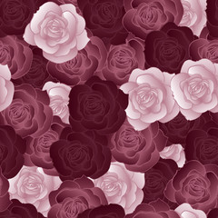 Seamless pattern with roses. Vector illustration