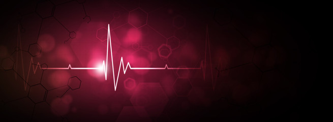 heartbeat red background
