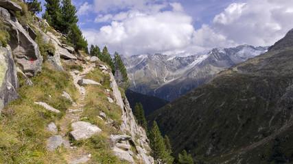 Wanderpfad oberhalb des Rainbachtals