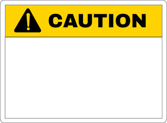 caution sign printed, vector illustration.