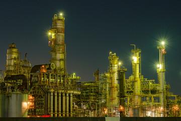 Yokkaichi factory night view