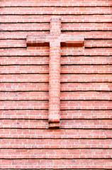 red brick cross
