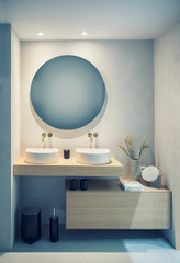 interior of bath room with decoration
