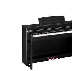 Real black grand piano