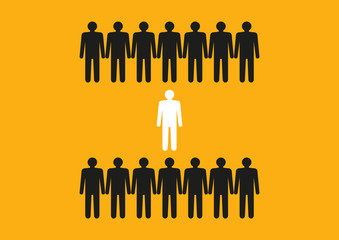 Concept Dare To Be Different Graphics Silhouette Of People Dont Change