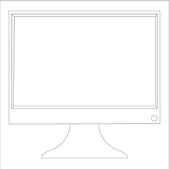 realistic monitor on a white background