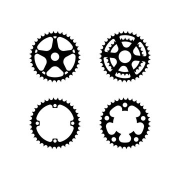 Bicycle crank vector collection