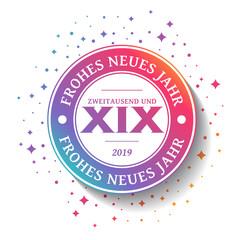 2019 - Grußkarte - Frohes neues Jahr