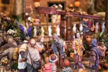 Figuras de  natividad en Navidad