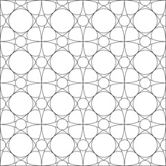 Black and White Pattern, Tile, Circles, Floral, Seamless