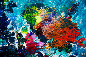 Abstract art painting of the bird