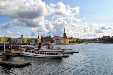 Fotomurales - View on Stockholm. Sweden capital