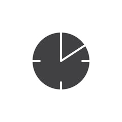 10 minute time vector icon. filled flat sign for mobile concept and web design. Timer clock simple solid icon. Symbol, logo illustration. Pixel perfect vector graphics
