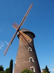 Spoed Fotobehang Molens Windmühle in Hamminkeln