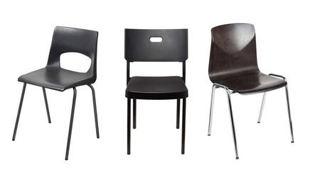 Black chair Fototapete