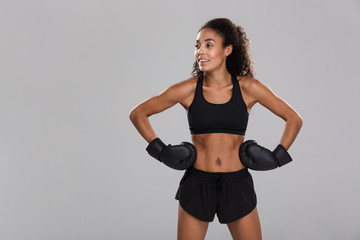 Portrait of an afro american young fit sportswoman