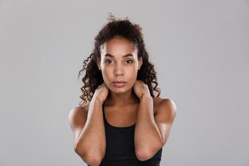 Portrait of a confident afro american sportswoman