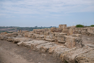 Selinunte, Italy - September 02, 2018: view of the North block of the Acropolis