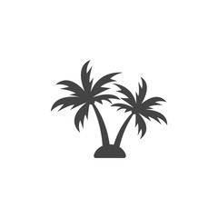 Palm tree silhouette graphic design element template vector illustration