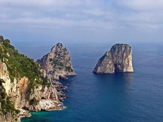 Capri Faraglioni Rocks Italy