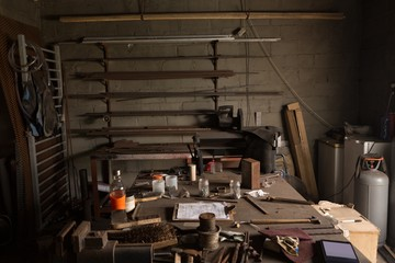 Metalsmith tools and equipments in factory