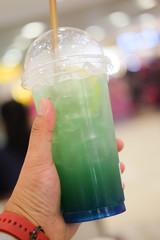 Colorful refreshment drinks lemonade