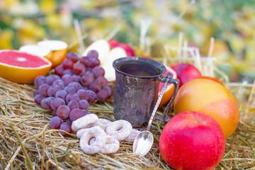 tea and fruit