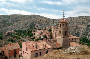 Fotobehang Toscane Village of Albarracin in the north of Spain