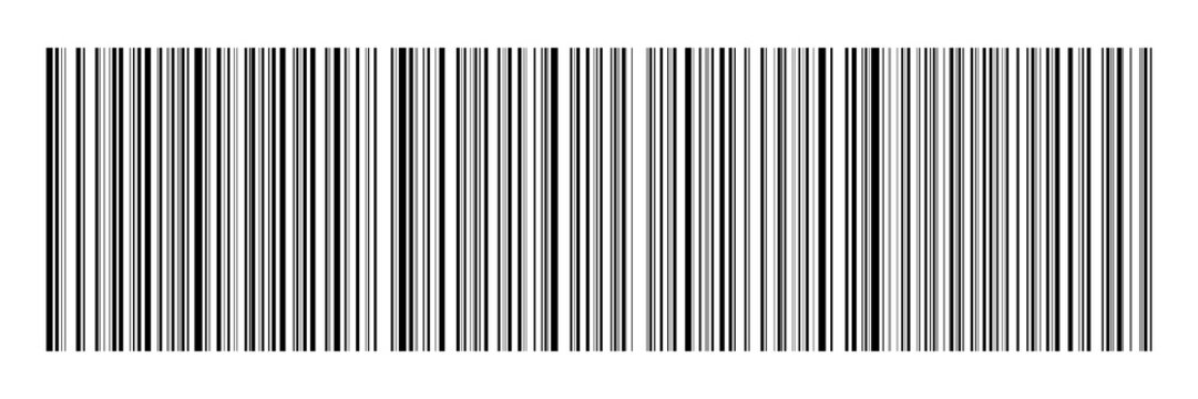 horizontal black bar code on white for pattern,background and design,vector illustration