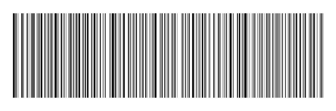 horizontal black bar code on white for pattern,background and design,vector illustration