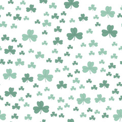 Clover three-leaf green pattern seamless