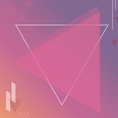 geometric colorful orange pink background vector