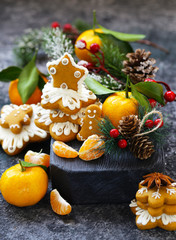 gingerbread and Christmas tree for the holiday decorations