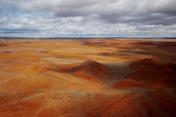 Foto op Canvas Bleke violet Orange landscape Teruel