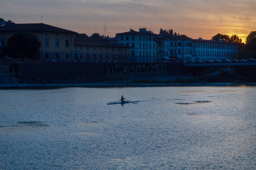 Rowing in Florence