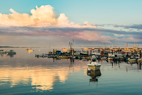 Sunset at Provincetown Marina