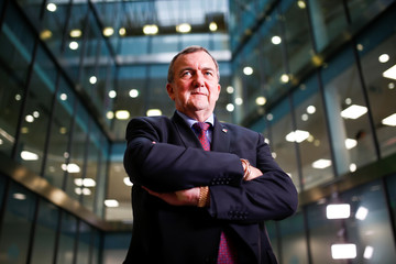 CEO of Randgold Mark Bristow poses for a photograph at the London Stock Exchange, London