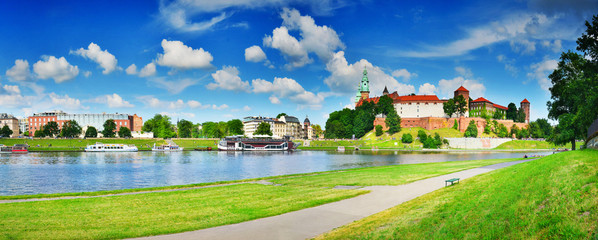 Wawel in summer,Krakow,Poland