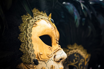 Typical carnival mask of the city of Venice. Costume to cover the face.